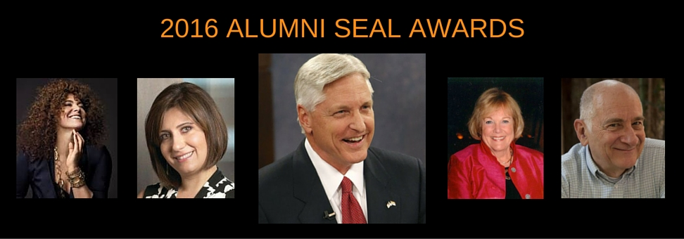 CHEERS TO FRED DUVAL, ALUMNUS OF THE YEAR, AND THE 2016 ALUMNI SEAL AWARD RECIPIENTS